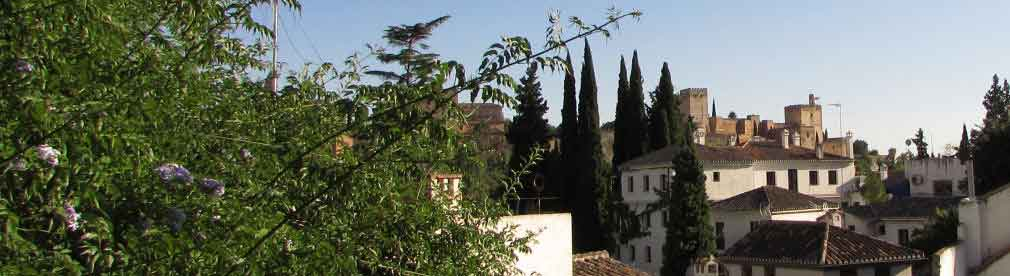 view of Alhambra from Granada holiday house