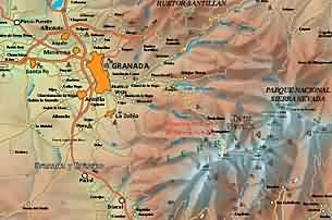 Map Of Spain Mountains.Basic Information About Granada Spain